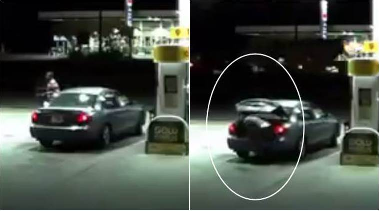 kidnapping video, chilling kidnapping video, woman runs away from abductor, woman in alabama runs away from abductor, indian express, indian express news