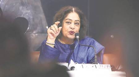 Kirron Kher meets Nitin Gadkari, pushes for Chandigarh Sector 29 flyover