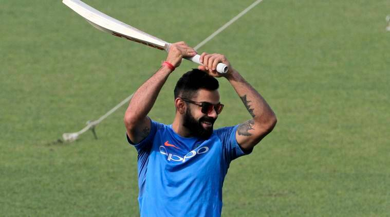 Virat Kohli practice at Eden Gardes before India vs sri Lanka 1st test