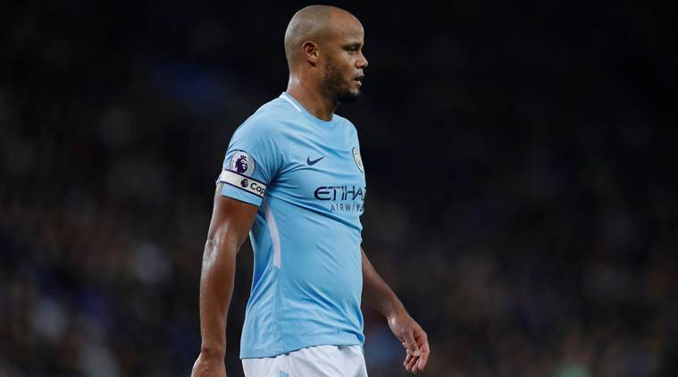 manchester city captain vincent kompany in match