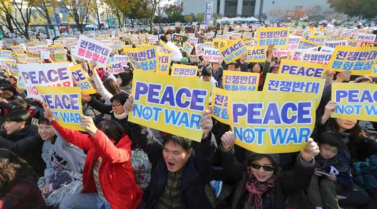 South Korea on North Korea issue, China South Korea meet on North Korea-related tensions, North Korea war creating tension, Xi Jinping, Moon Jae-in, world news, indian express news
