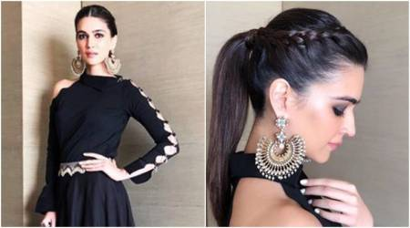 Kriti Sanon adds a beautiful modern twist to her ethnic outfit; see pics