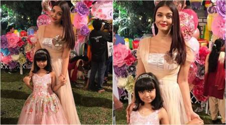 Aishwarya Rai Bachchan and daughter twin in tulle at Aaradhya's birthday bash