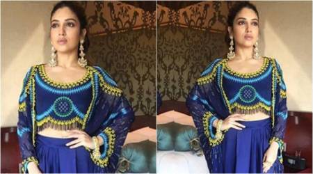 Bhumi Pednekar's outfit will add a pop of colour on a blue day