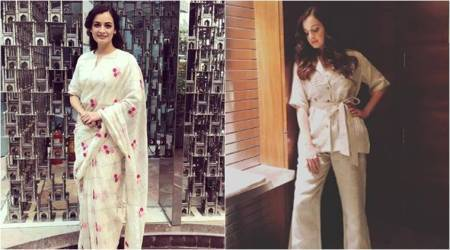 Dia Mirza strikes the perfect balance between ethnic and modern with these two looks