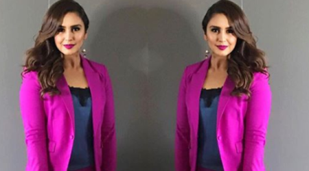 Huma Qureshi's bright pink outfit reminds us of a Barbie doll costume