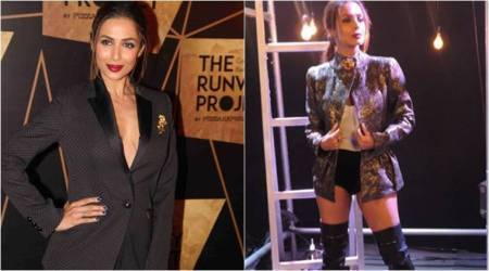 Malaika Arora defies age in a power suit and a corset