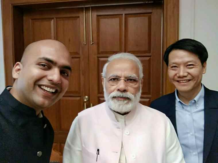Xiaomi founder, chairman and CEO Lei Jun with Prime Minister Narendra Modi in May 2017