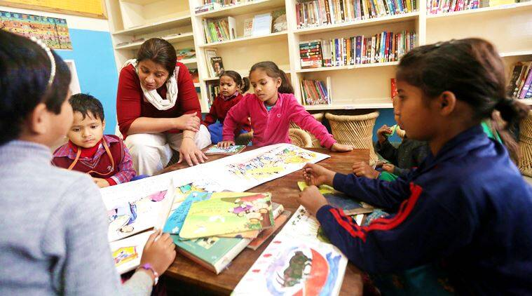 community library, library for kids, kids read, children read, library for children, books for little ones, kids books, indian express, indian express news