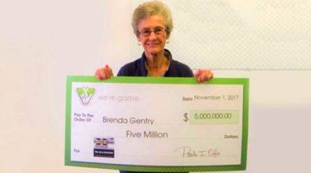 lottery, lottery prize, woman wins three lottery prizes, three lottery prizes us woman, united states lottery, $5000 + $500 + $5 cash prize, indian express, indian express news