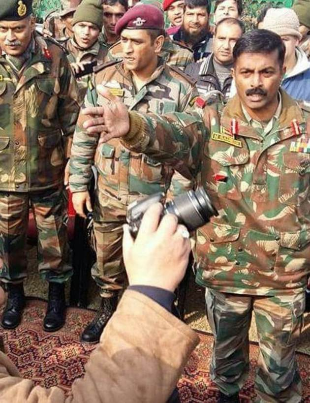 MS Dhoni in Indian Army