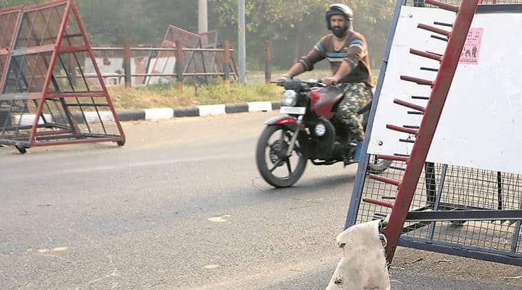 chandigarh-mohali border news, barricades news, chandigarh news, indian express news