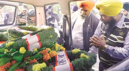 Martyr killed in J&K cremated with full state honours in his Gurdaspurvillage