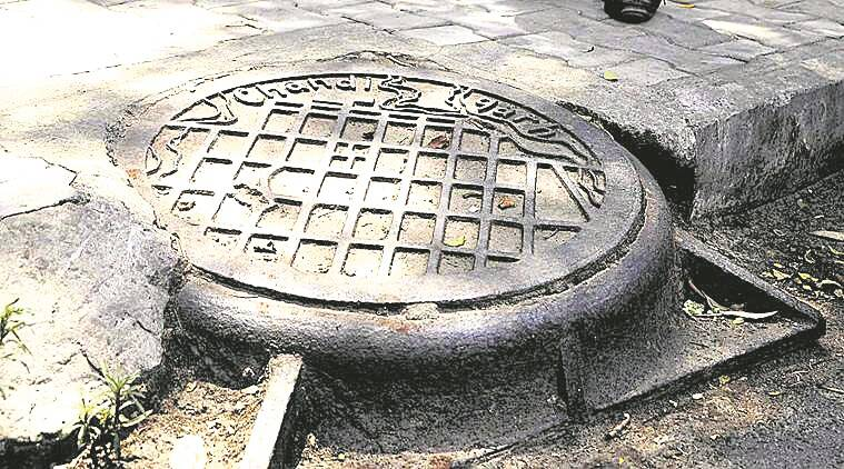 chandigarh architect, le corbusier, french architect chandigarh, manhole, indian express