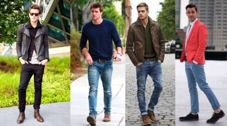 man jeans, skinny fit, slim fit, trendy pair of jeans, classic and distressed jeans, new jeans look, joggers style denims, indian express, indian express news