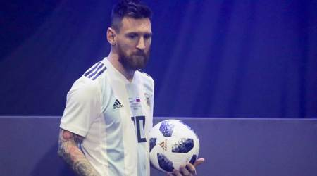 Lionel Messi presents World Cup 2018 ball in Moscow