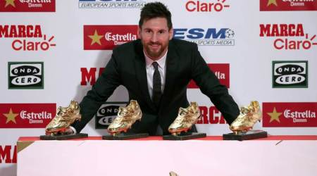 Lionel Messi receives fourth Golden Shoe as Europe's top scorer