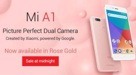 Xiaomi Mi A1 rose gold launch: price, specifications, and features