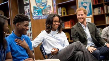 VIDEO: Michelle Obama and Prince Harry surprise Chicago school teens; watch their priceless reaction