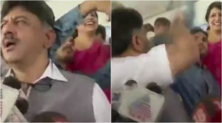 VIDEO: Karnataka Congress minister gets angry, hits man trying to click aselfie