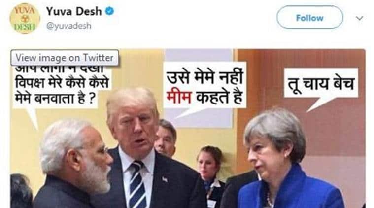 Irani takes on Congress over 'chaiwalla' meme