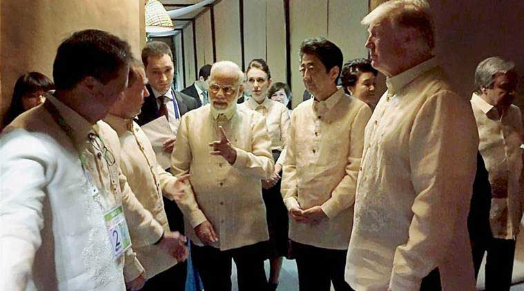 narendra modi, asean summit, modi in asean summit, modi donald trump, modi in manila, asean summit in manila, ndia, US, Japan, Australia