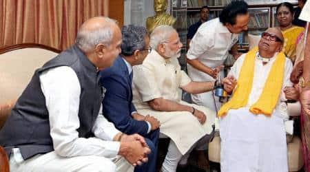 Tamil Nadu: PM Modi meets DMK patriarch M Karunanidhi, sparks speculation instate