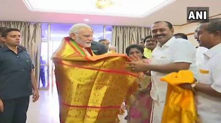 Narendra Modi in Chennai live updates: PM meets DMK chief Karunanidhi, enquires about his health