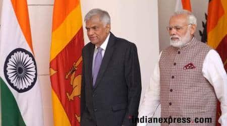sri lanka, narendra modi, ranil wickremesinghe, sri lanka pm, narendra modi, sri lanka ports, mattala airport, indian express news