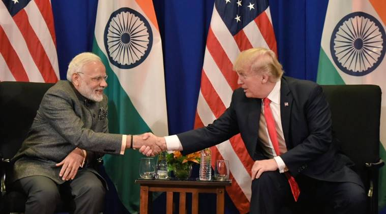 trump news, modi news, india news, indian express news