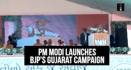 PM Modi Launches BJP's Gujarat Campaign, Attacks 'Dynastic' Congress