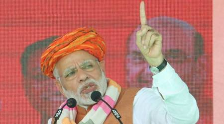 Prime Minister Narendra Modi is in Gujarat to boost BJP election campaign