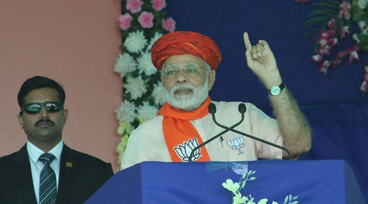 PM Modi attacks Congress in Gujarat