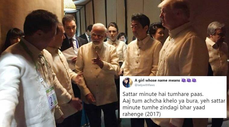 narendra modi, pm modi, asean summit manila, pm modi asean summit phillipines, pm modi latest news, pm modi photos, pm modi donald trump, pm modi trump, donald trump modi, indian express, indian express news