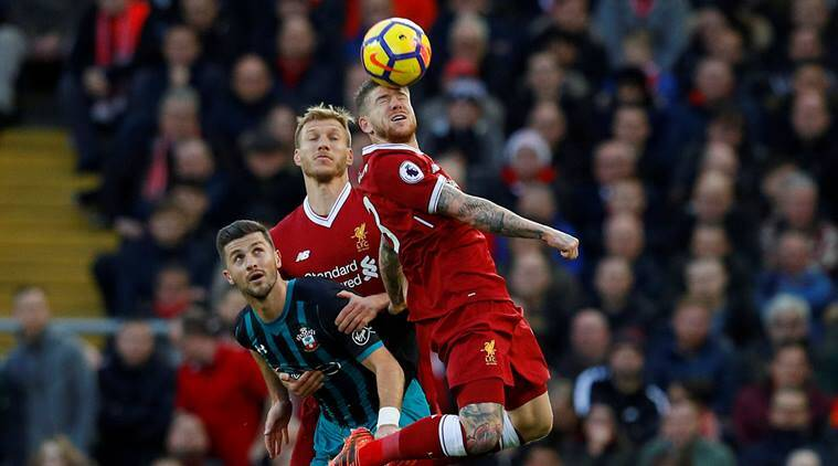 Alberto Moreno in action against Southampton in the Premier League