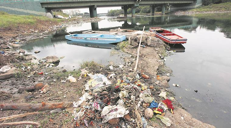 pune, pune river,  Mula-Mutha river,  Mula-Mutha river pollution, pune river pollution, National River Conservation Plan, PMC, latest news, indian express