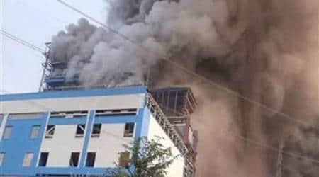 ntpc explosion, ntpc fire photos, Raebareli blast, ntpc blast pics, Raebareli ntpc pictures, Unchahar plant, Unchahar ntpc plant explosion pics, indian express