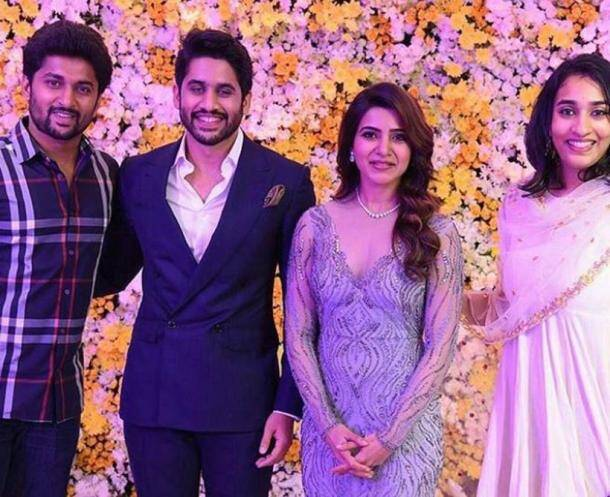 Nani, chaysam reception, naga chaitanya reception, samantha ruth prabhu