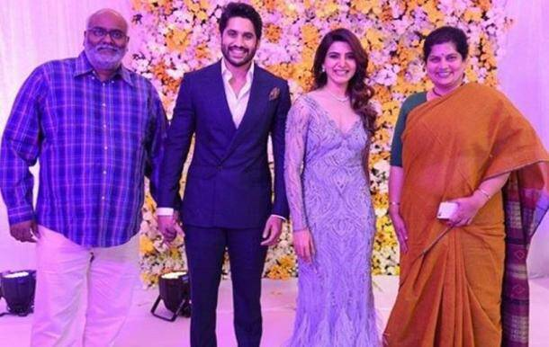 MM Keeravani, chaysam reception, samantha wedding reception, naga chaitanya reception