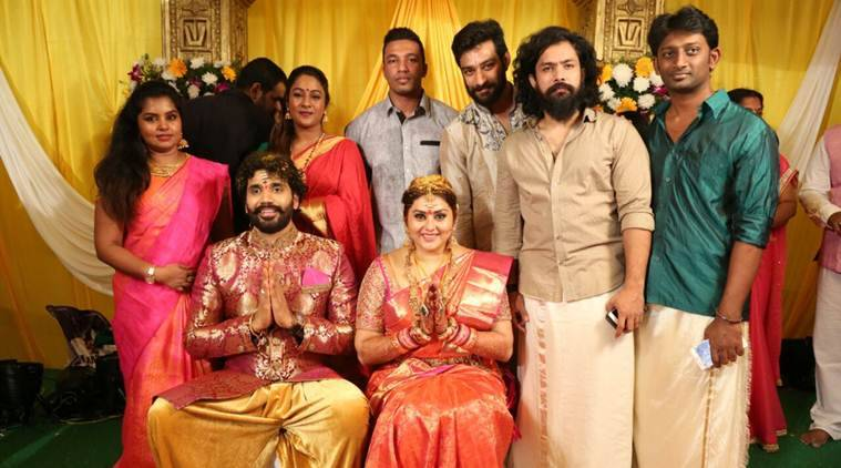 Namitha ties the knot with veerandra in tirupati the indian express namitha marries veerandra thecheapjerseys Choice Image