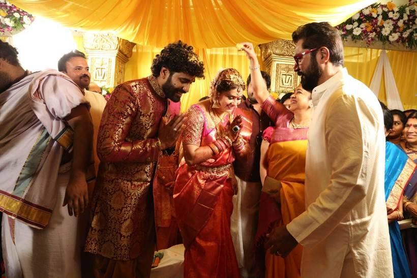 Namitha ties the knot with Veerandra Chowdhary in Tirupati