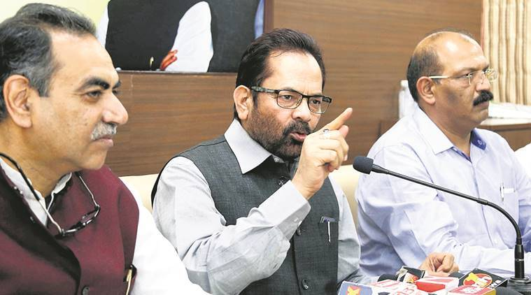 Mukhtar Abbas Naqvi , Union Minister for Minority Affairs, demonetisation, demonetosation anniversary, india news, indian express news