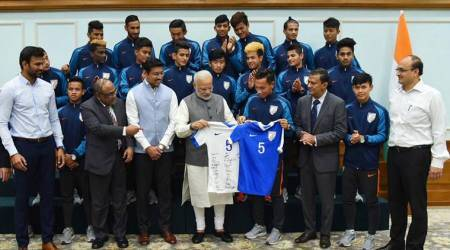 PM Narendra Modi interacts with India U-17 football team, says no life without sports: Watch video