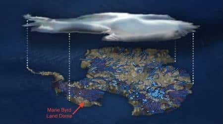 Geothermal heat source under west Antarctica melting its ice sheet:NASA