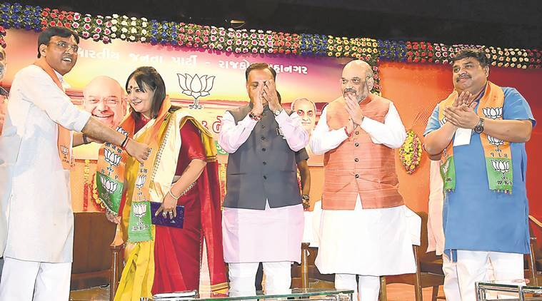 Gujarat Assembly elections, Congress leader, Kashmira Nathwani, Nathwani joins BJP, BJP, Gujarat assembly elections, Gujarat assembly polls, india news, indian express news