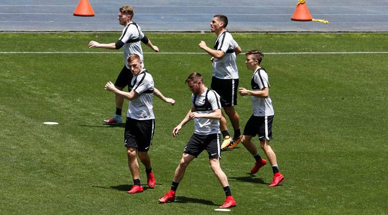 New Zealand football team training in Peru