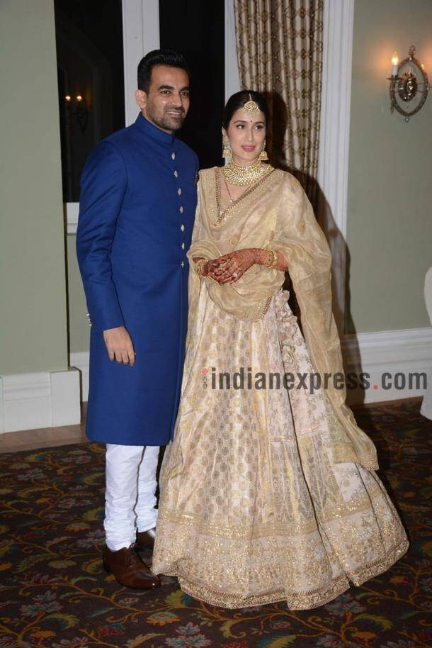 Virat Kohli and Anushka Sharma at Zaheer Khan and Sagarika Ghatge's reception