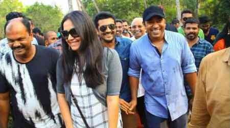 Photos: Nivin Pauly thanks Suriya, Jyothika for visiting the sets of his Kayamkulam Kochunni