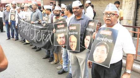 On the streets: NCP, Congress protest; BJP lauds 'fight against black money'