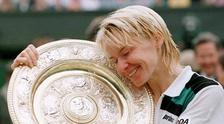 jana novotna after winning wimbledon in 1998